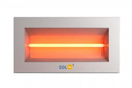 Infraraudonųjų spindulių šildytuvas SolBee SBH 20 C White (2,0 kW, 2 m kabelis su kištuku)